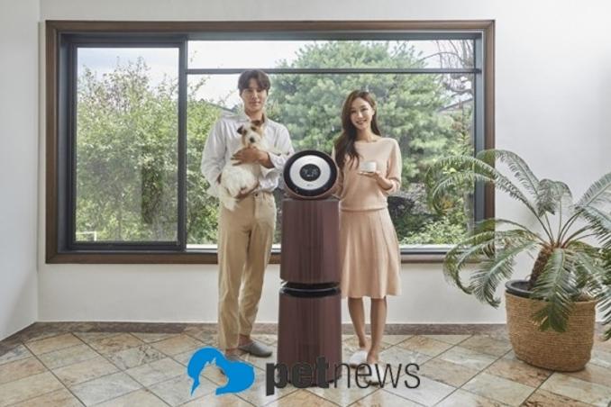 LG전자, 반려동물 가구 위한 공기청정기 신제품 내놨다